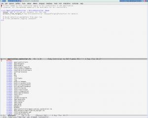 Вид Emacs после создания приложения